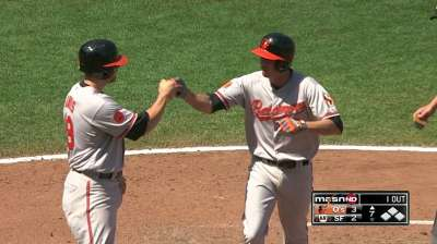 Orioles romp after Hardy's go-ahead shot