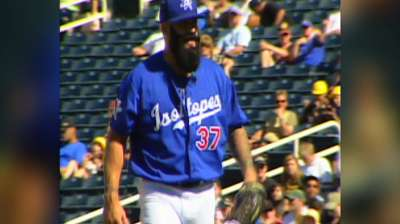 Beard is back: Wilson joins Dodgers' bullpen
