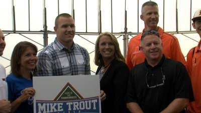 Trout's high school field renamed in his honor
