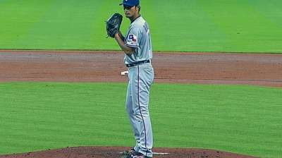 Darvish K's career-high 15, flirts with no-hitter