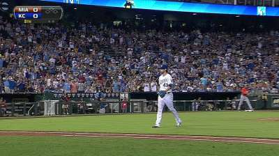 Royals lose their grip in extras loss to Marlins