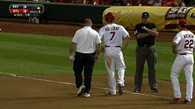 Holliday exits marathon with sprained ankle