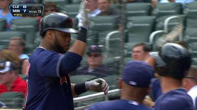 Santana back in cleanup spot for Tribe