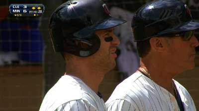 Bullpen can't contain Tribe on Mauer's big day