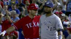 Rangers rally from early hole with three-run seventh