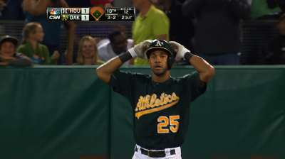 CY stunned again as A's fall to Astros in extras
