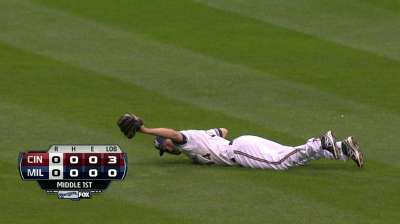 Brewers lose duel, Gomez against Reds