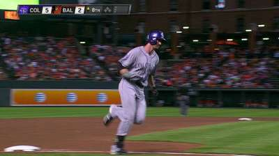 Blackmon making most of shot with Rockies
