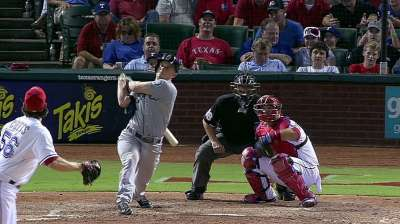 Seager's swing quite successful at Rangers Ballpark