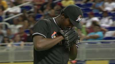 Marlins promote hard-throwing Caminero