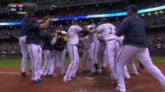 Lucroy solves Chapman, lifting Crew to walk-off win