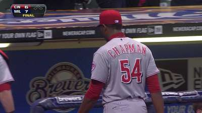 Chapman blows save as win streak ends at five
