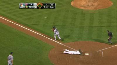 Sogard protects A's Wild Card lead with clutch double