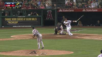 Green settling into big league swing with Angels