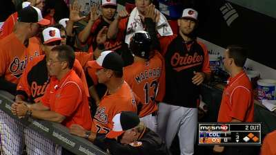 Orioles bust out of slump with huge inning