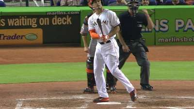 Stanton, Marlins try to rally, but can't contain Giants