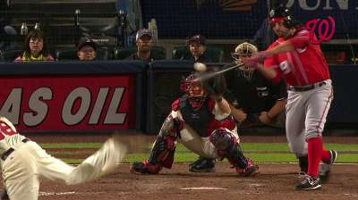 Reliever Roark collects first MLB hit, RBI