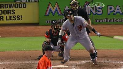 Mistakes thwart Giants' attempt to sweep Marlins