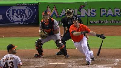 Mathis leads Marlins to late victory over Giants