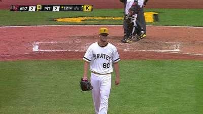 Pirates promote lefty Johnson to bolster bullpen