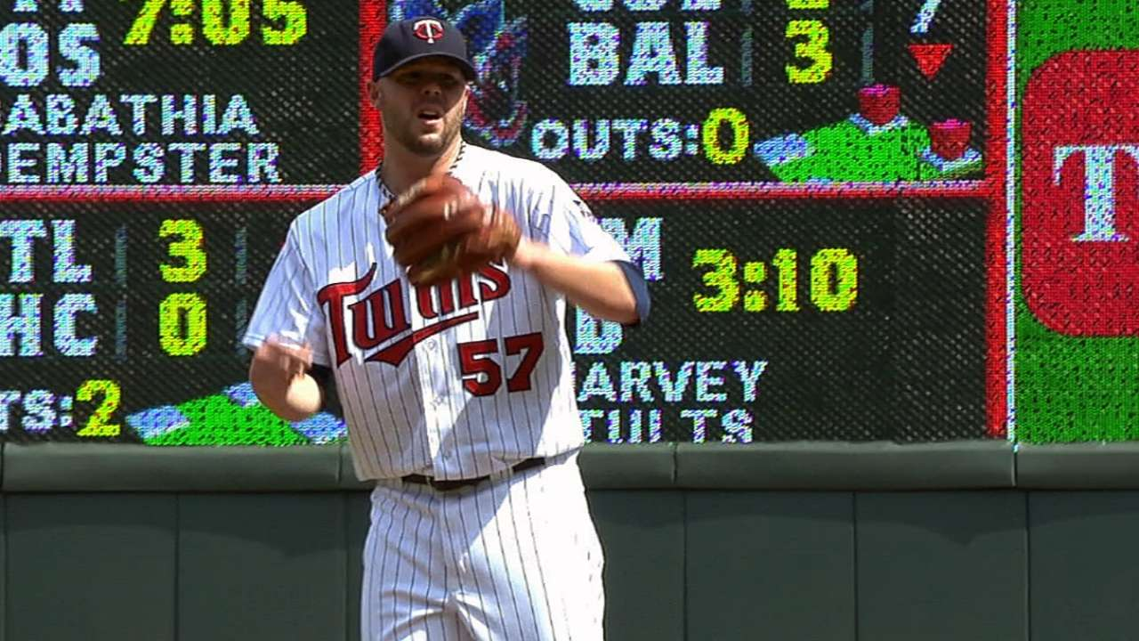 Pressly makes way back to Twins' bullpen