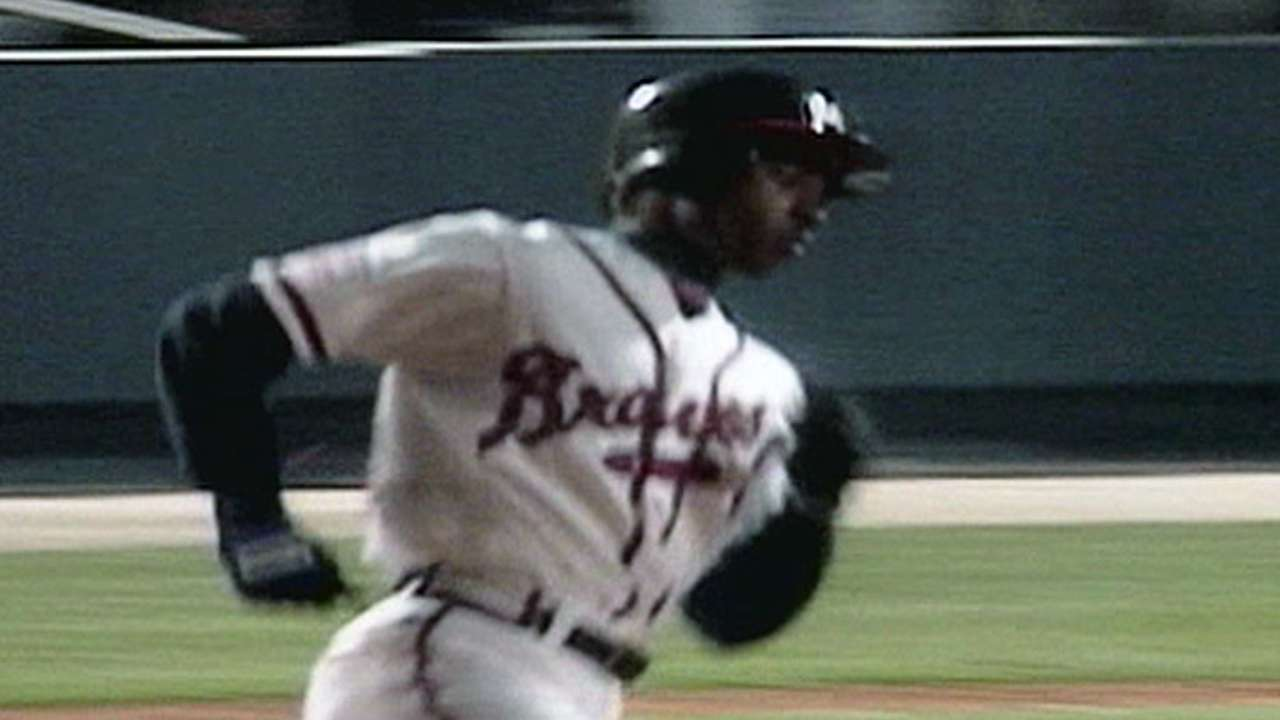 First home run at Turner Field