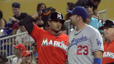 Solano a steady presence for Marlins at No. 2 spot