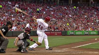 Offense stays on roll as Reds down D-backs