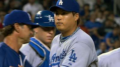 Ryu solid, but Dodgers drop second straight game