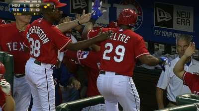 Rangers roll behind 11-run inning vs. Astros