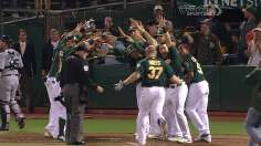 Parker goes distance, Moss goes deep as A's walk off