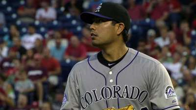 Rockies hope thumb won't derail De La Rosa