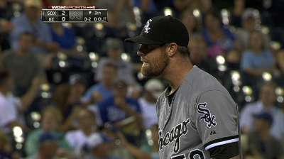 Danks tosses eight scoreless innings to defeat Royals