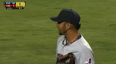 Tribe keeps close count on Salazar's pitches
