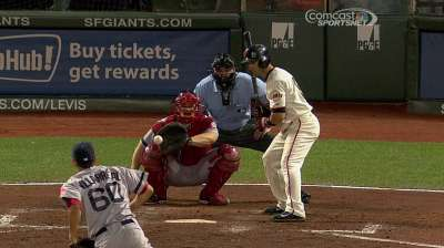 Giants beat Red Sox with walk-off walk