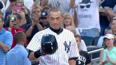 Pierre tips cap to Ichiro's milestone
