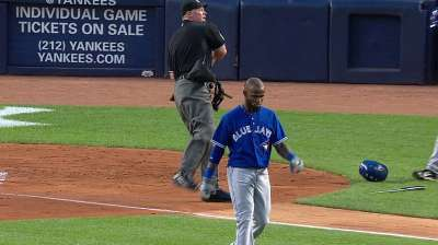 Reyes ejected early after arguing strike call