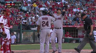 Swisher's hot hitting comes up clutch for Tribe
