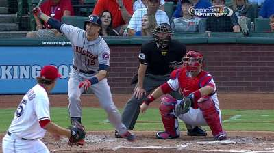 Astros close road trip with tough loss to Rangers