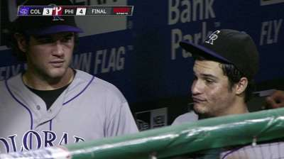 Rockies take late lead but quickly lose it