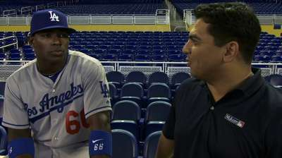 Puig back in lineup after experiencing dehydration