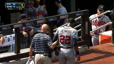 Braves hope for late September return for Heyward