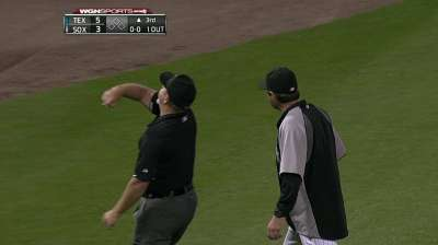 Stuck ball leads to inside-the-park HR, Ventura ejection