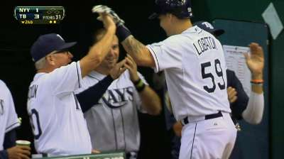 Rays' four homers plenty to end Yanks' run