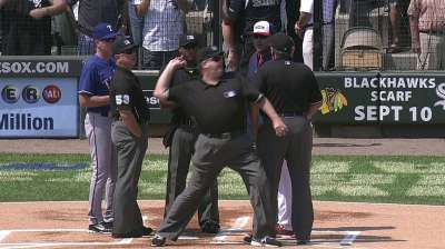 Parent ejected while exchanging lineup cards