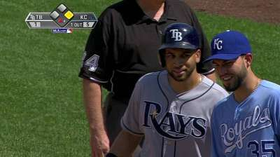 Hellickson roughed up as Rays fall to Royals