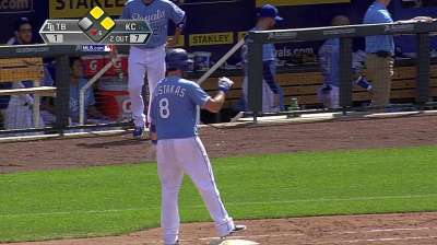 Illness keeps Moustakas out of lineup