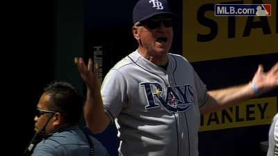 Maddon tossed for arguing called third strike