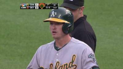 Donaldson fitting right in at two-spot for A's