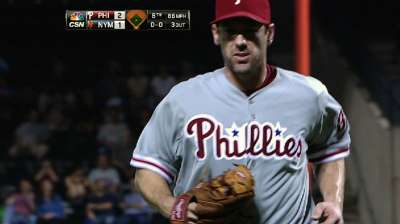 Lee's eight innings lead Phillies past Mets